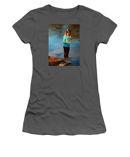 Women's T-Shirt (Junior Cut) featuring the painting Fast Friends by Glenn Beasley