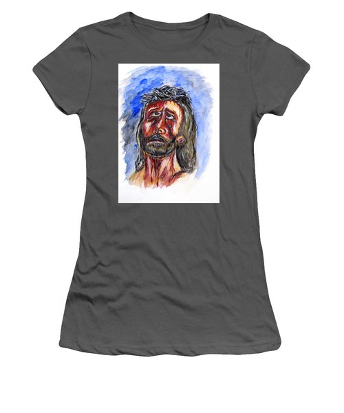 Father Forgive Them Women's T-Shirt (Junior Cut) by Clyde J Kell