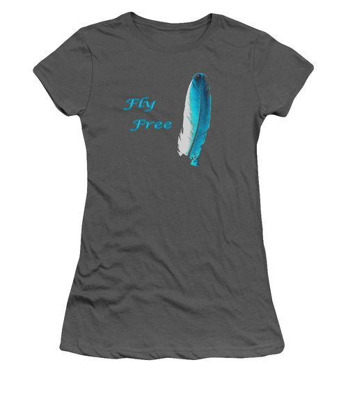 Feather Of Free Flight Women's T-Shirt (Junior Cut) by Aliceann Carlton