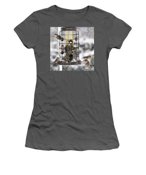 Feeding Time In The Great White North Women's T-Shirt (Athletic Fit)