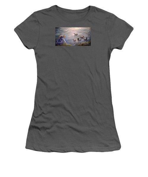 Feeding Time Women's T-Shirt (Junior Cut)