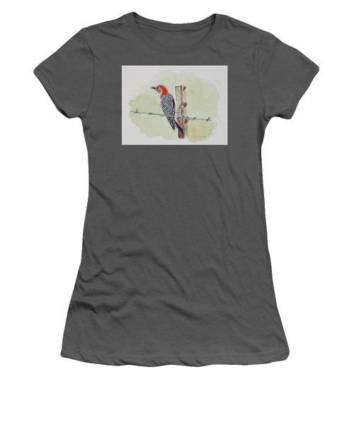 Fence Sitting Women's T-Shirt (Athletic Fit)