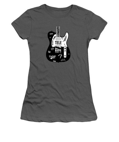 Fender Telecaster 64 Women's T-Shirt (Athletic Fit)