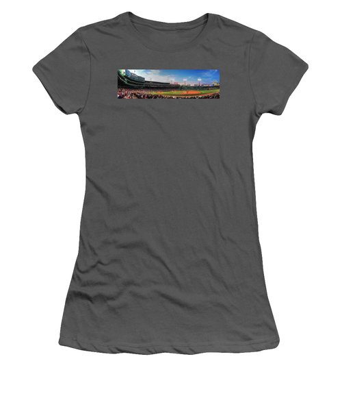 Fenway Park Panoramic - Boston Women's T-Shirt (Athletic Fit)