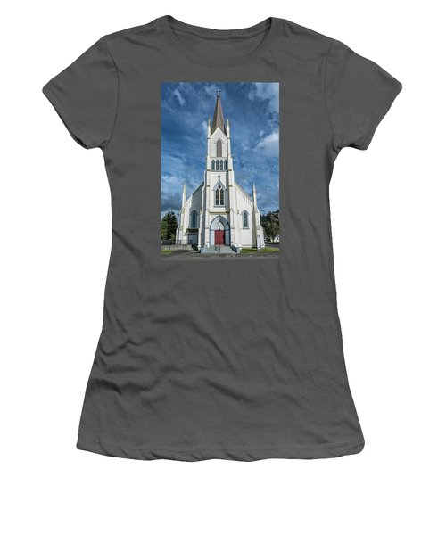 Women's T-Shirt (Junior Cut) featuring the photograph Ferndale Catholic Church by Greg Nyquist