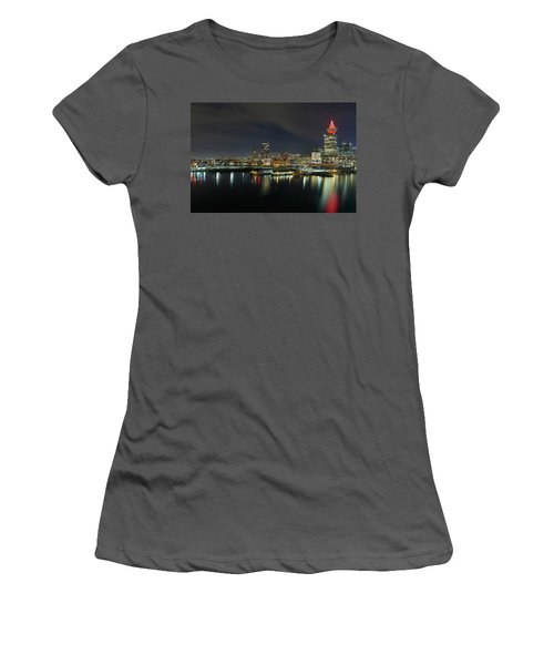 Ferry Terminal In Vancouver Bc At Night Women's T-Shirt (Athletic Fit)