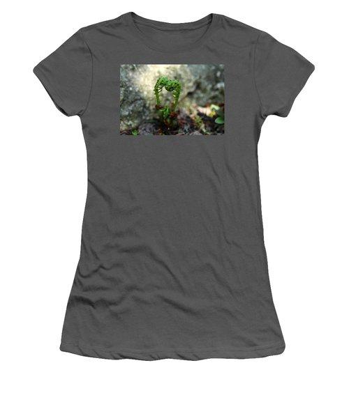 Fiddleheads Women's T-Shirt (Junior Cut) by Debbie Oppermann
