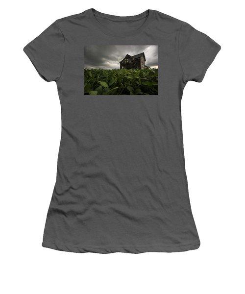 Field Of Beans/dreams Women's T-Shirt (Junior Cut) by Aaron J Groen