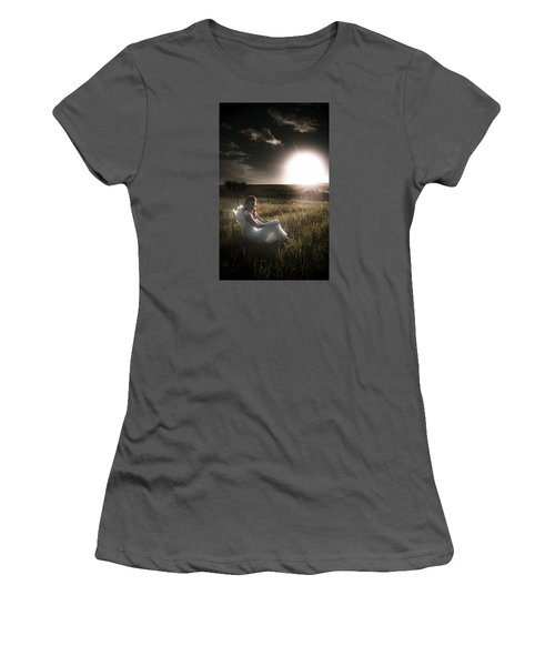 Women's T-Shirt (Athletic Fit) featuring the photograph Field Of Dreams by Jorgo Photography - Wall Art Gallery