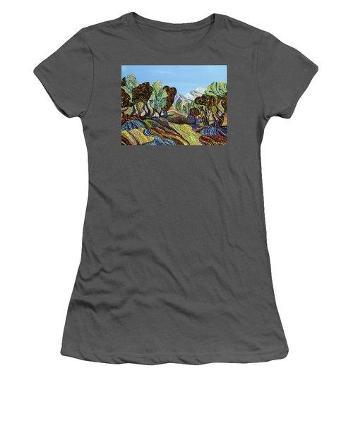 Fields Of Gold  Women's T-Shirt (Junior Cut) by Erika Pochybova