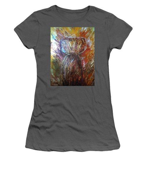 Fiery Earth Latte Stone Women's T-Shirt (Athletic Fit)