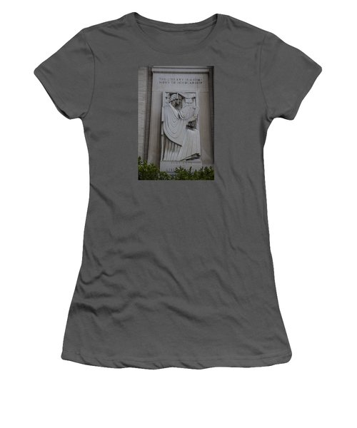 Fine Art Library Penn State  Women's T-Shirt (Athletic Fit)