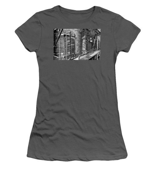 Fire Escape And Doors Women's T-Shirt (Athletic Fit)