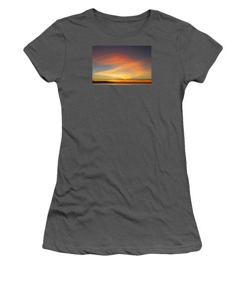 Fire In The Sky Women's T-Shirt (Junior Cut) by Elvira Butler