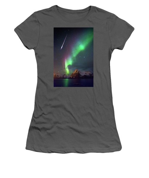 Fireball In The Aurora Women's T-Shirt (Athletic Fit)