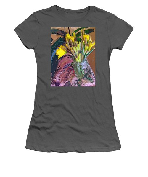 First Daffodils Women's T-Shirt (Junior Cut) by Alexis Rotella
