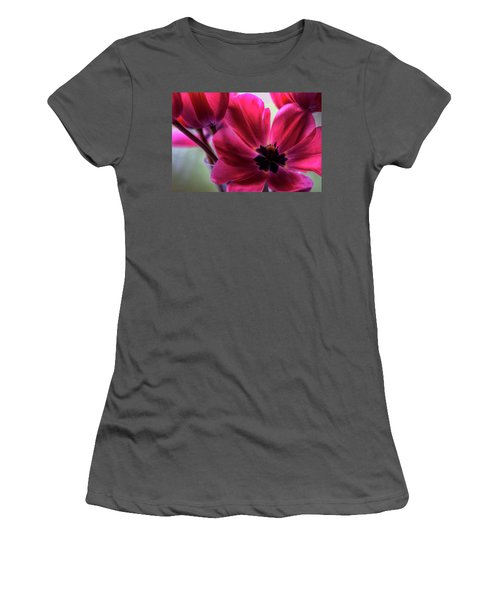 First To Wake Women's T-Shirt (Athletic Fit)