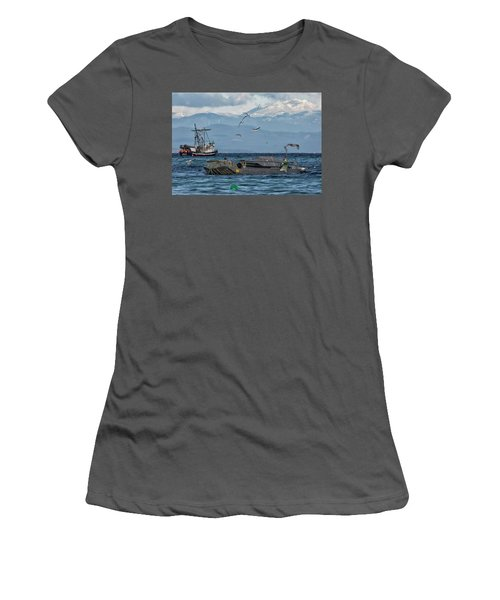 Women's T-Shirt (Junior Cut) featuring the photograph Fish Are Flying by Randy Hall