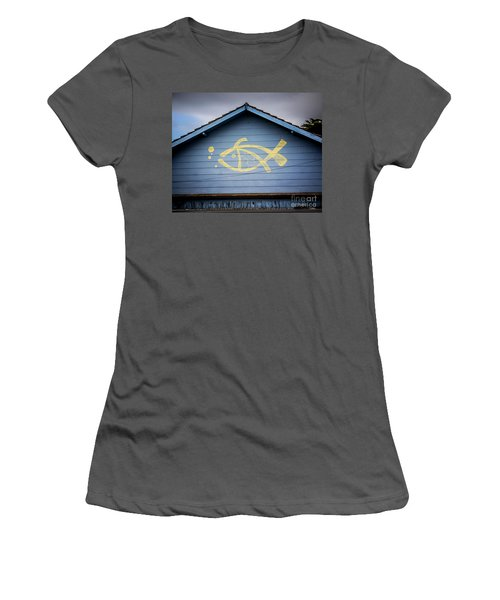 Women's T-Shirt (Junior Cut) featuring the photograph Fish House by Perry Webster