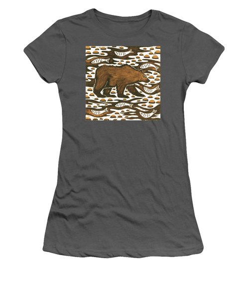 Fishing Bear Women's T-Shirt (Athletic Fit)