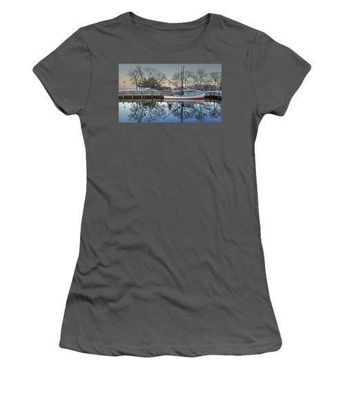 Fishing Boat At Newburyport Women's T-Shirt (Athletic Fit)