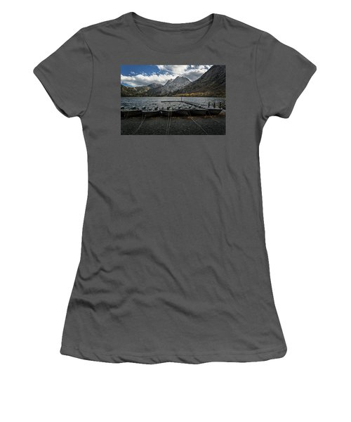 Fishing Boats Along The Shore Women's T-Shirt (Athletic Fit)