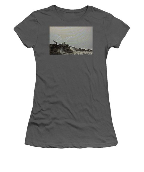 Fishing In The Twilight Zone Women's T-Shirt (Athletic Fit)