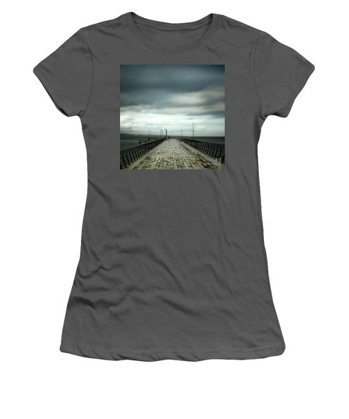 Women's T-Shirt (Junior Cut) featuring the photograph Fishing Pier by Perry Webster