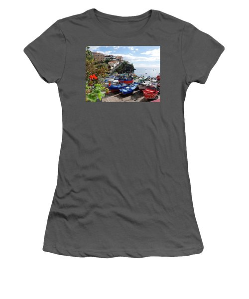 Fishing Village On The Island Of Madeira Women's T-Shirt (Athletic Fit)