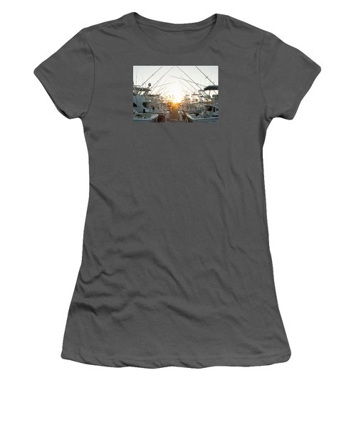 Fishing Yachts Women's T-Shirt (Athletic Fit)