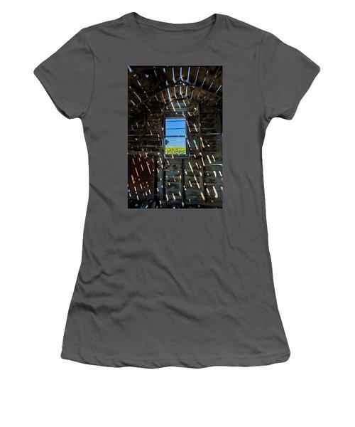Fixer Upper With A View Women's T-Shirt (Junior Cut) by Kristal Kraft
