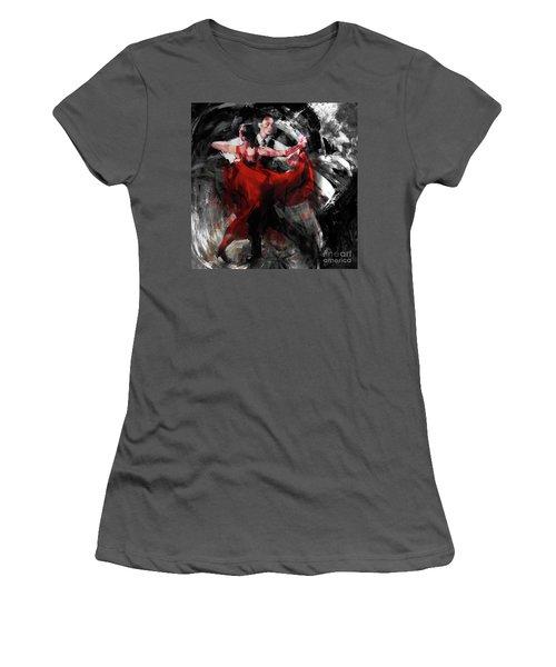 Flamenco Couple Dance  Women's T-Shirt (Athletic Fit)