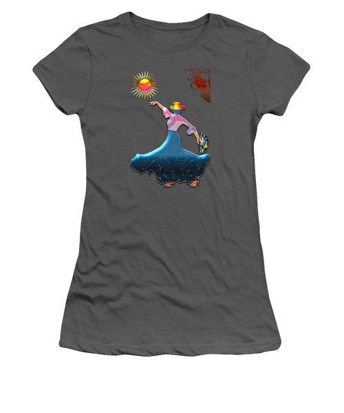 Flamenco Dancer Women's T-Shirt (Athletic Fit)
