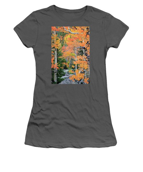 Women's T-Shirt (Junior Cut) featuring the photograph Flaming Forest by David Chandler
