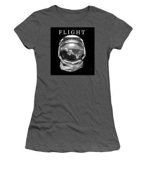 Women's T-Shirt (Junior Cut) featuring the photograph Flight by David Lee Thompson