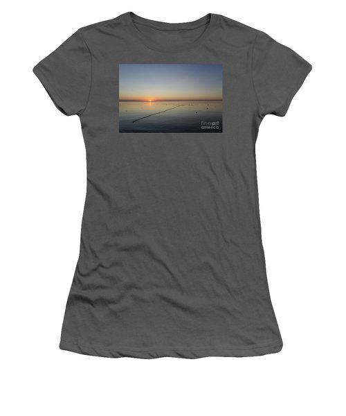 Women's T-Shirt (Junior Cut) featuring the photograph Floating Fishnet by Kennerth and Birgitta Kullman