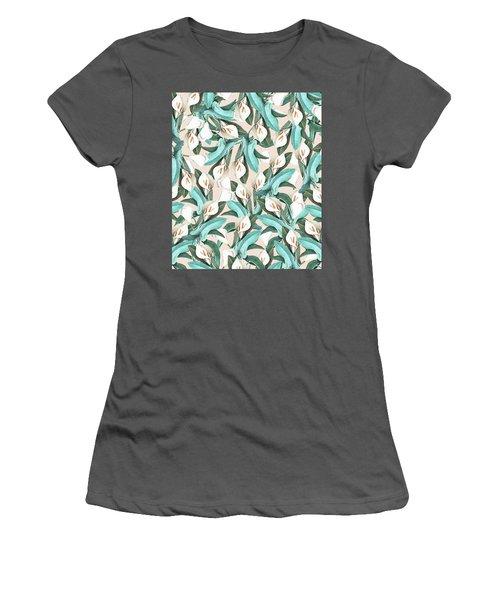 Floral Porn Women's T-Shirt (Junior Cut) by Uma Gokhale