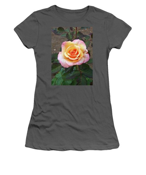 Women's T-Shirt (Athletic Fit) featuring the painting Floral Print 108 by Chris Flees