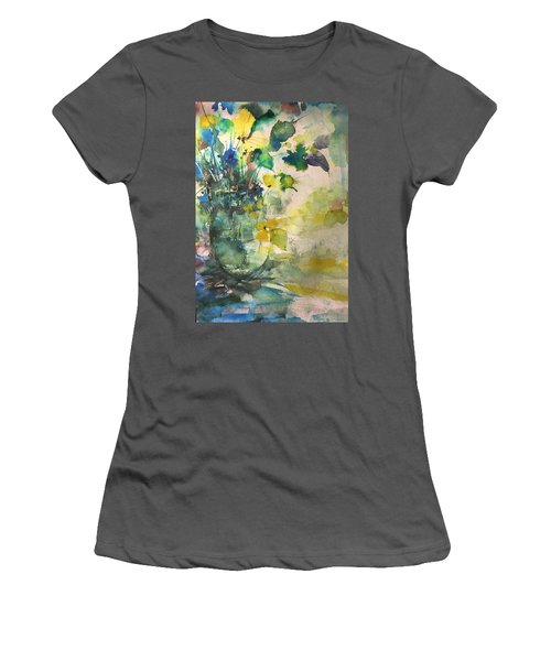 Flower And Vase Stilllife  Women's T-Shirt (Junior Cut) by Robin Miller-Bookhout