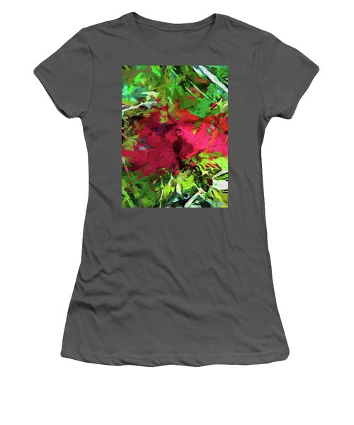Flower Christmas Red Green Pink Women's T-Shirt (Athletic Fit)