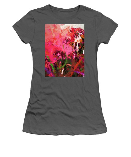 Flower Flames Soul Pink Women's T-Shirt (Athletic Fit)
