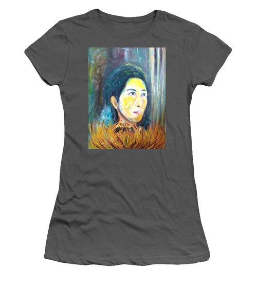 Flower Of Sun Women's T-Shirt (Athletic Fit)