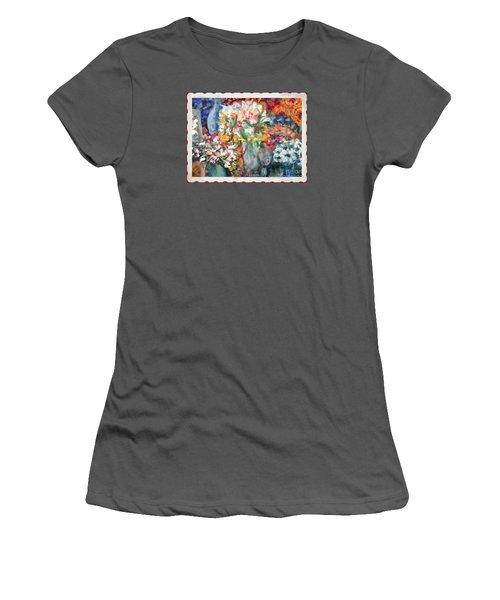 Flower Shop Window Women's T-Shirt (Athletic Fit)