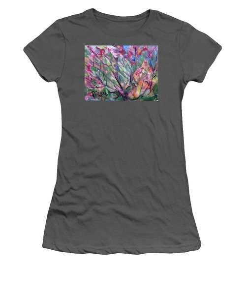 Women's T-Shirt (Junior Cut) featuring the painting Flowering by Betty Pieper