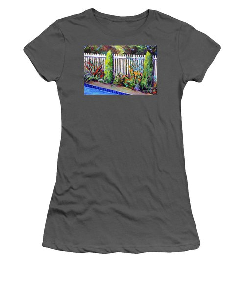 Flowers By The Pool Women's T-Shirt (Athletic Fit)