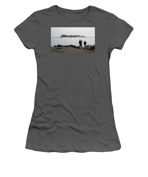 Women's T-Shirt (Junior Cut) featuring the photograph Flowers For The Lady by John Scates