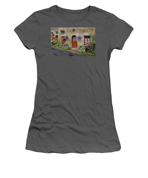 Flowery Doorways In Brittany Women's T-Shirt (Athletic Fit)