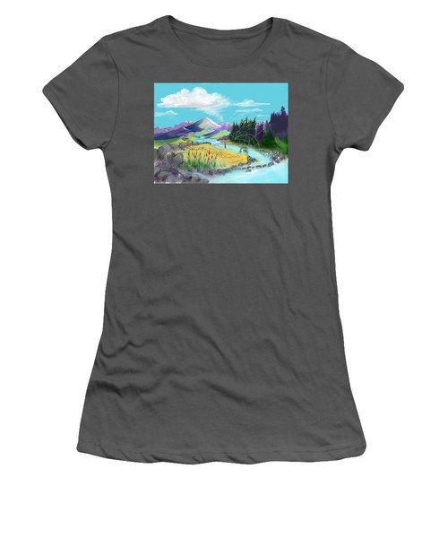 Fly Fishing With Aa Wooly Worm. Women's T-Shirt (Athletic Fit)