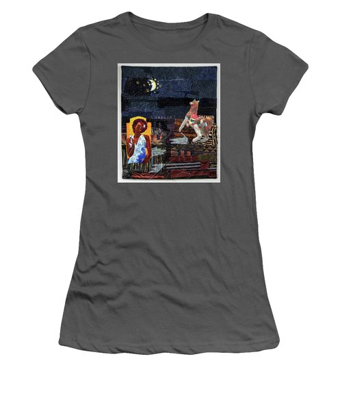 Fly Me To The Moon Women's T-Shirt (Athletic Fit)
