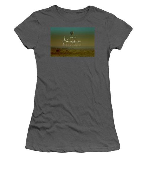 Women's T-Shirt (Junior Cut) featuring the photograph Flying High On The Masai Mara by Karen Lewis